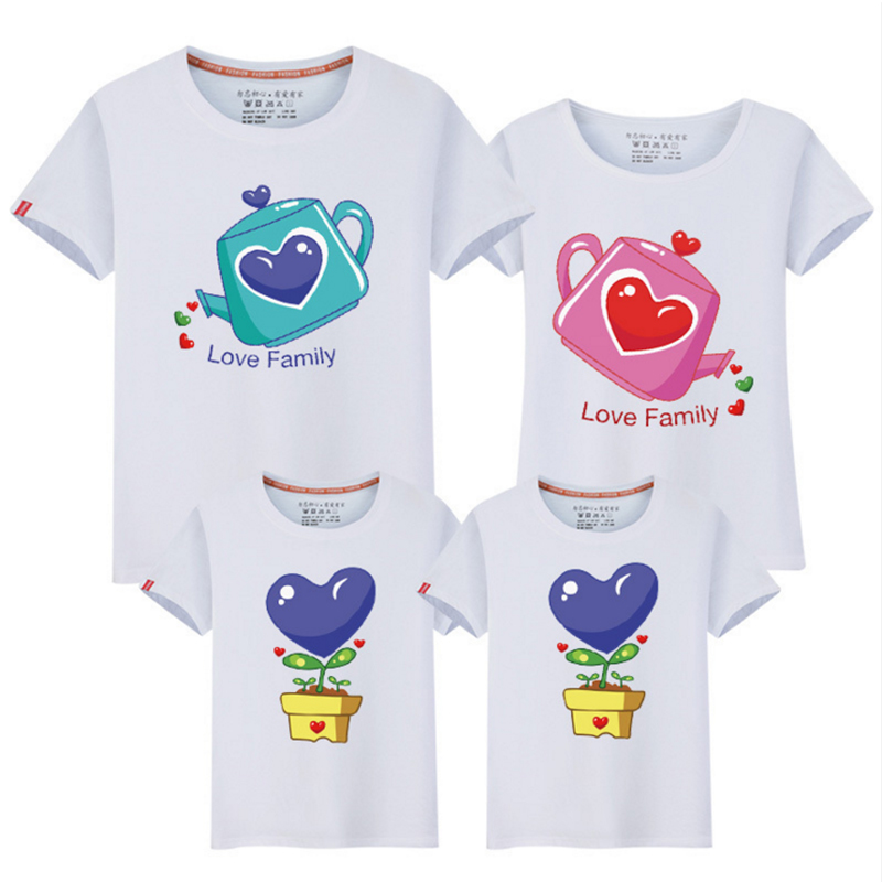 Mother Daughter Matching Clothes/the Seeds of Love/matching Clothes Family Cotton Family Matching Outfit Father Mother Son Fy017