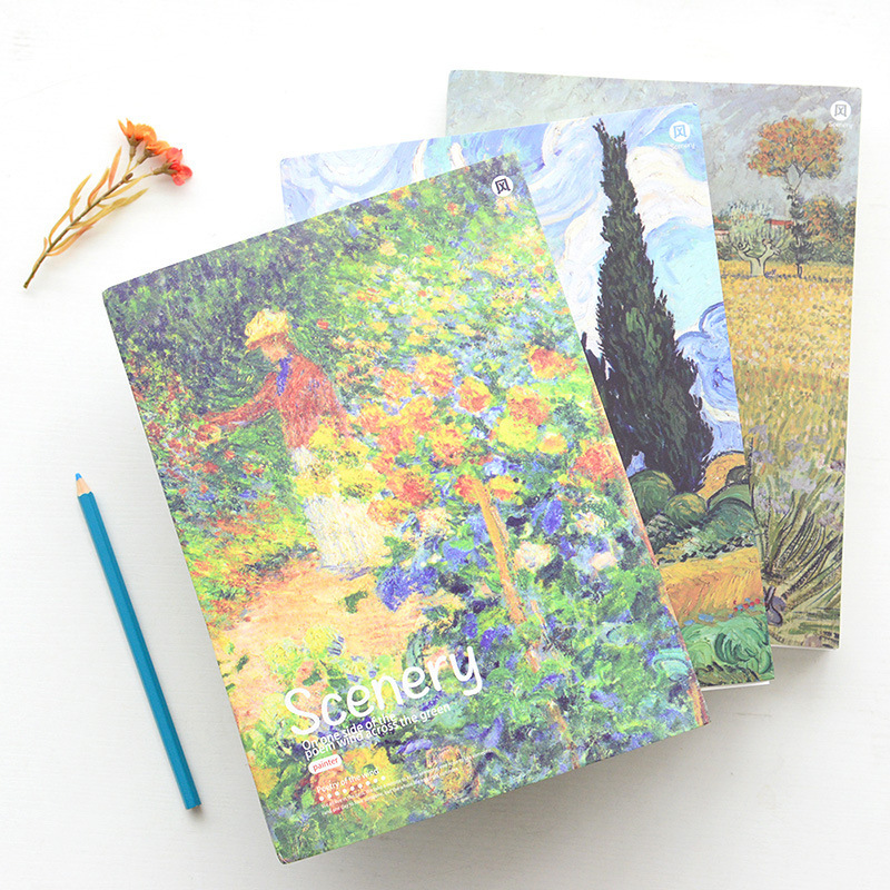 Poetic landscape sketch this exquisite painting graffiti this blank inside pages sketchbook Notepad notes B5 26*19.2cm