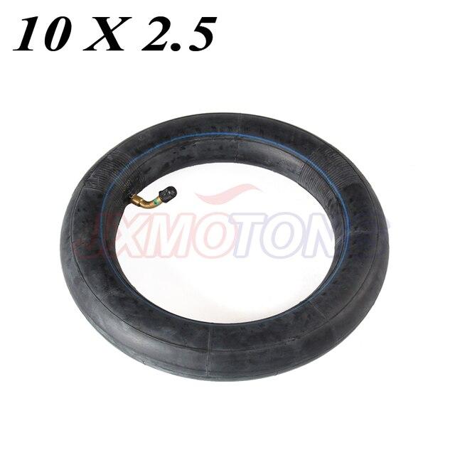 Внутренняя труба 10x2,5 с изогнутым клапаном подходит для газовых электрических скутеров E bike 10 x