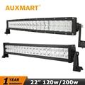 Auxmart 22 inch 120W Straight LED Light Bar 200w Curved LED Bar CREE Chips Driving Lights Fit Truck 4x4 ATV Combo Beam 12V 24V
