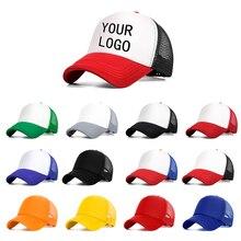 2ebe33db56ca0 Logotipo personalizado gratuito diseño hombres mujeres gorra de béisbol de  malla transpirable sombrero niños niñas ajustable