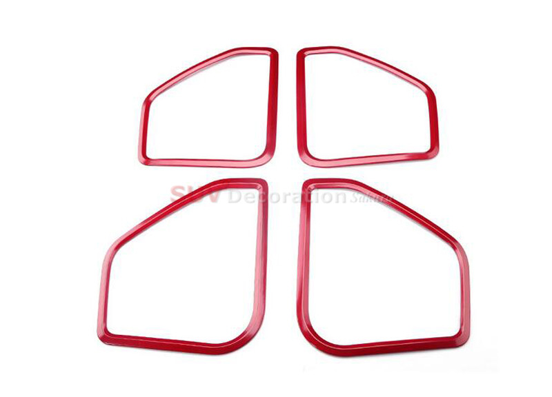 New! NEW!!  For Porsche Macan 2014 2015 2016 Inner ABS Red Car Speaker Audio Ring Decoration Trim 4pcs new