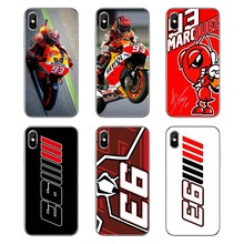 Marc Marquez autocycle 93 Pattern Soft Transparent Shell Cases For Samsung Galaxy Note 8 9 S9 S10 A8 A9 Star Lite Plus A6S A9S(China)