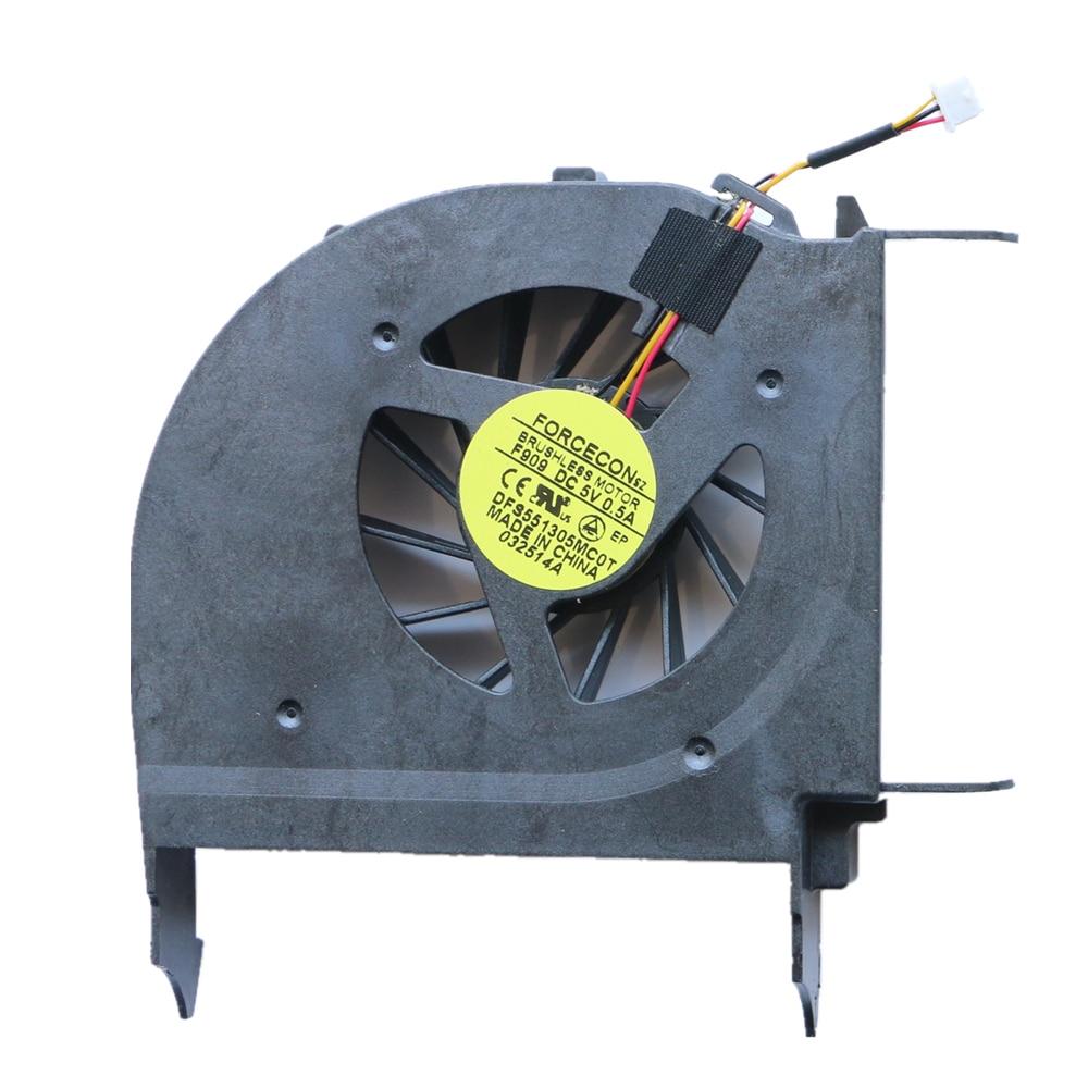 Nový ventilátor Cpu pro HP DV7-2000 DV7-2100 DV7-3000 DV7-3100 Chlazení ventilátoru FORCECON DFS551305MC0T F909 516876-001