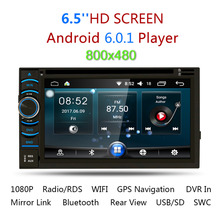 2Din 6.5″ HD Android 5.1 Capacitive Touch Screen Quad Core Car DVD Player GPS Navigation Bluetooth WIFI 3G Support MirrorLink