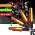 オートバイターンシグナルライト柔軟な 12 LED ターンシグナルインジケータウインカーため honda ホーネット cb600f bajaj スズキ gsr 750 mt 03