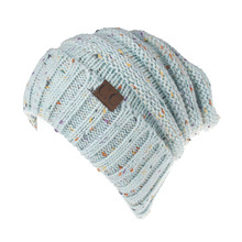 Aproms New 2017 Winter Multi Colorful Knitted Hat Cap Women Autumn Casual Black Skullies Beanies Female