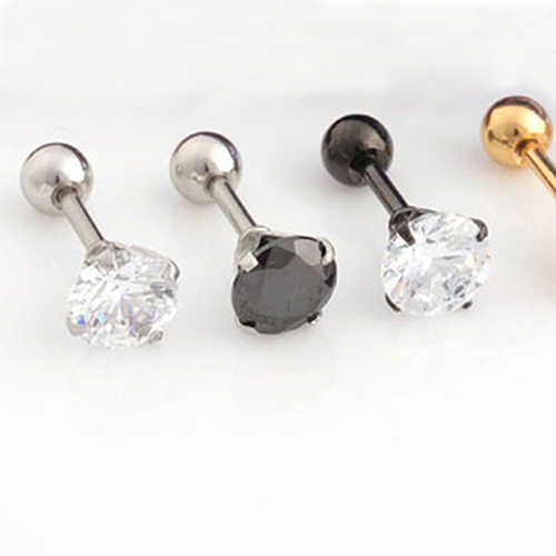 13dd5a605 ... Men Women Rhinestone Cartilage Tragus Bar Helix Upper Ear Earring Stud  Jewelry ...