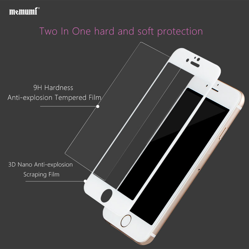 memumi Tempered Glass For iPhone 7 Plus Film Screen Protector For - Mobile Phone Accessories and Parts - Photo 2