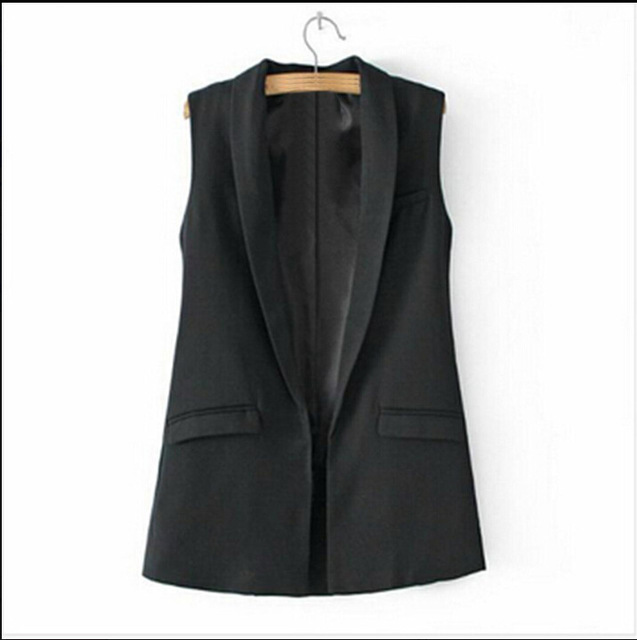 377bc386820a0 2017 Cool Women's Vest Solid Black&White Formal Office Female Vest  Sleeveless High Quality Casual Elegant Ladies Coat Tops-in Vests &  Waistcoats from ...