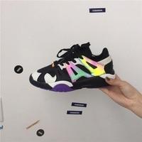 2019 new wild port winds ins super fire street shooting retro laser Harajuku casual shoes Korean ulzzang sports shoes men