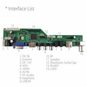 Image 2 - Programa gratuito T HD8503.03C Universal TV LCD Placa de controlador de TV/AV/VGA/HDMI/USB + 7Key + botón 1ch 6bit 40 pines cable lvds 8503