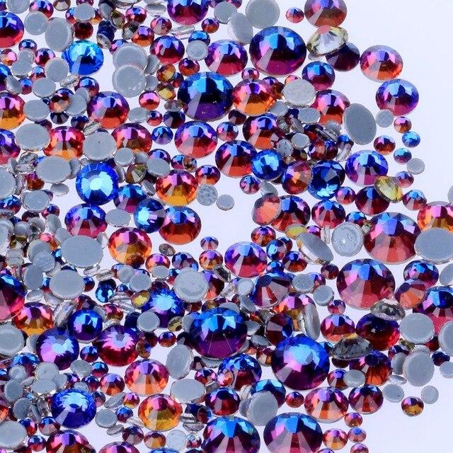 Все размеры 40 цветов кристалл AB исправление стразы, Стекло Стразы исправленное железо на Стразы для дизайна ногтей шитье и ткань Decoretion - Цвет: Volcano