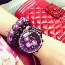 Luxurious Model Stainless Metal 6 Eyes Quartz Watch Ladies Women Trend Crystal Costume Wristwatch Feminine Watch Montre Femme OP001
