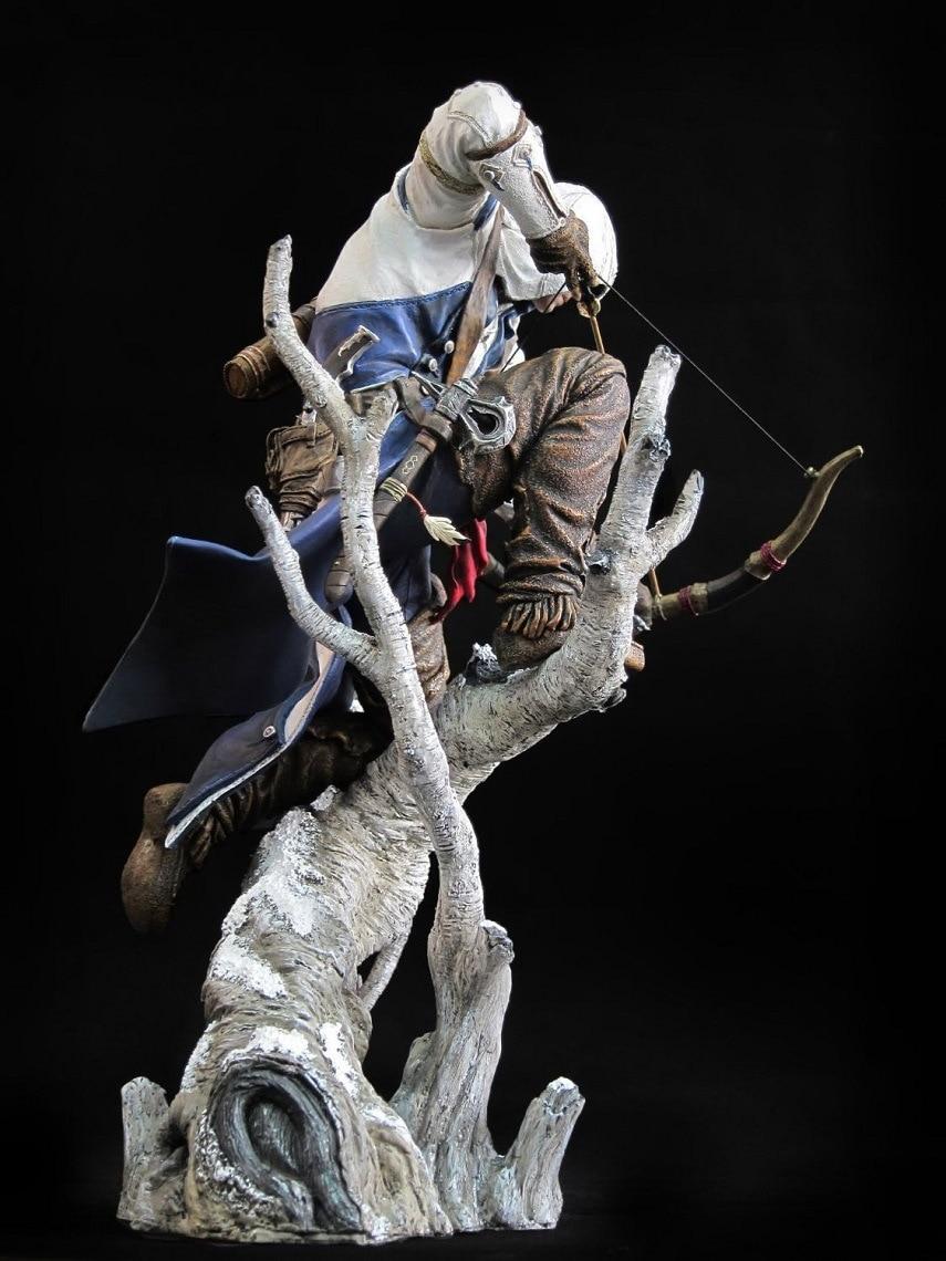 ФОТО Free Shipping 20cm Assassin's Creed III Ezio Altair Hartel Connor PVC Action Figure Model Retail