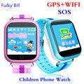 Новый GPS Часы Q750 WIFI 1.54 сенсорный экран дети раннего обучения Смарт детские часы Анти-упал сигнализации SOS Вызова трекер шагомер