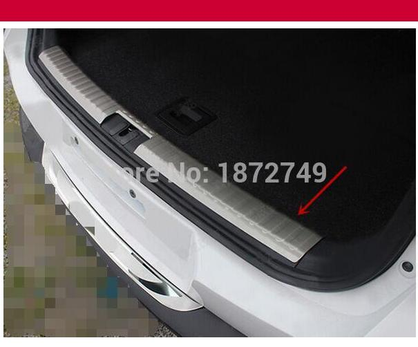 For Volkswagon Tiguan 2015 2014 2013 2012 2011 2010 Stainless steel Rear bumper protector trunk cargo scuff plate cover 1pcs car rear trunk security shield cargo cover for jeep compass 2007 2008 2009 2010 2011 high qualit auto accessories