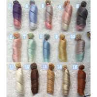 Mini muñeca DIY de moda de 15cm, Material de alta temperatura, peluca de Pelo Liso para muñecas sintéticas BJD, accesorios