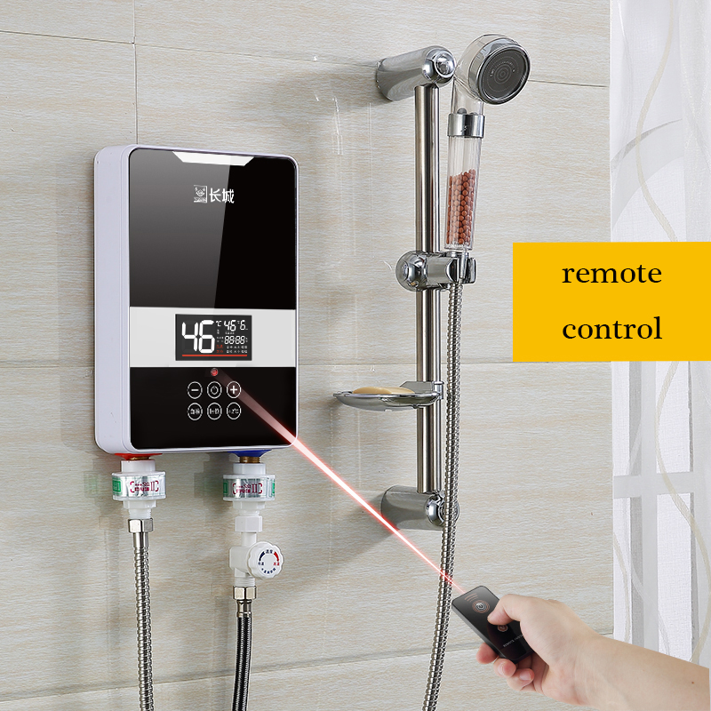 Remote Control Electric Water Heater Hot Water Shower Mini Home Wall Mounted Bath Room Constant
