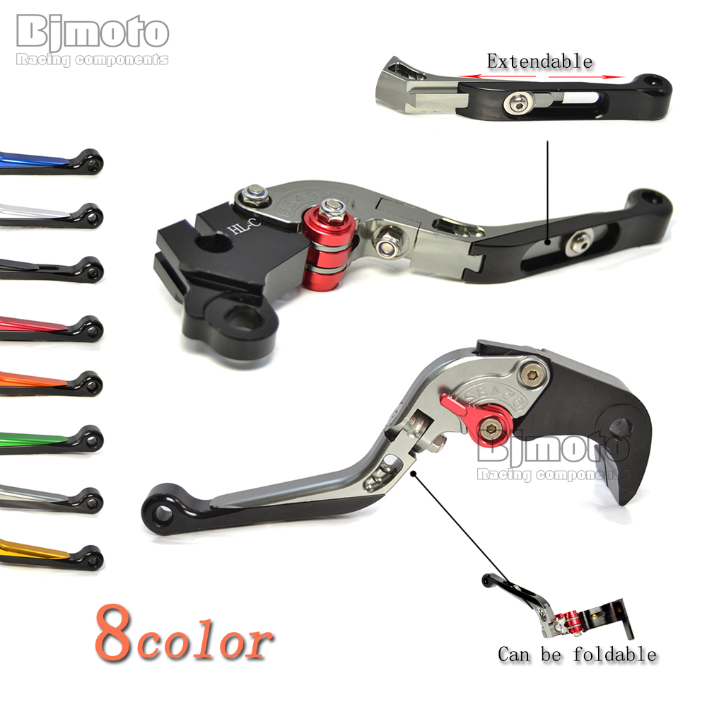 CNC Adjustable Folding Extendable Motorcycle Brake Levers Clutch Lever Motor Parts For Yamaha YZF R1 R6 R3 R25 FJR XJR FZ1 FZ6 keoghs motorcycle brake clutch levers short lever cnc aluminum adjustable for yamaha mt03 mt07 mt09 r3 gold red blue balck