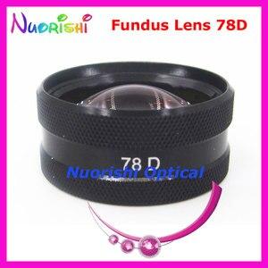 Image 2 - ¡78DM tan bueno como la lente Volk! Funda de plástico duro para lente de cristal de contacto, lámpara de hendidura para Fundus oftálmico, envío gratis