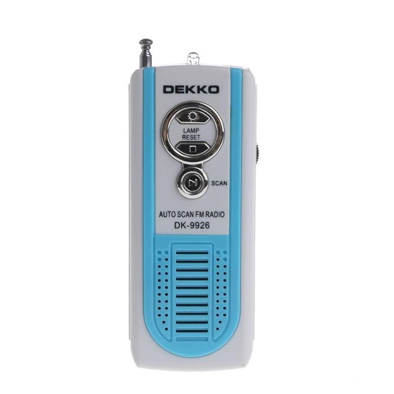 Neue Mini Tragbare Auto Scan Fm Radio Empfänger Clip Mit Taschenlampe Kopfhörer Dk-9926 Festsetzung Der Preise Nach ProduktqualitäT Tragbares Audio & Video Radio