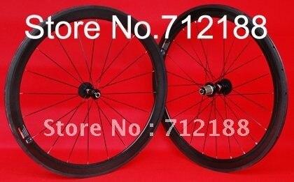 TW05 - Full carbon Road bike Tubular Wheelset 50mm - 700C Tubular Rim + Spokes + hub + skewers
