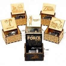 Новая легенда о Зельде музыкальная шкатулка ручные музыкальные коробки Звездные войны рождественские подарки на день рождения Caixa De Musica