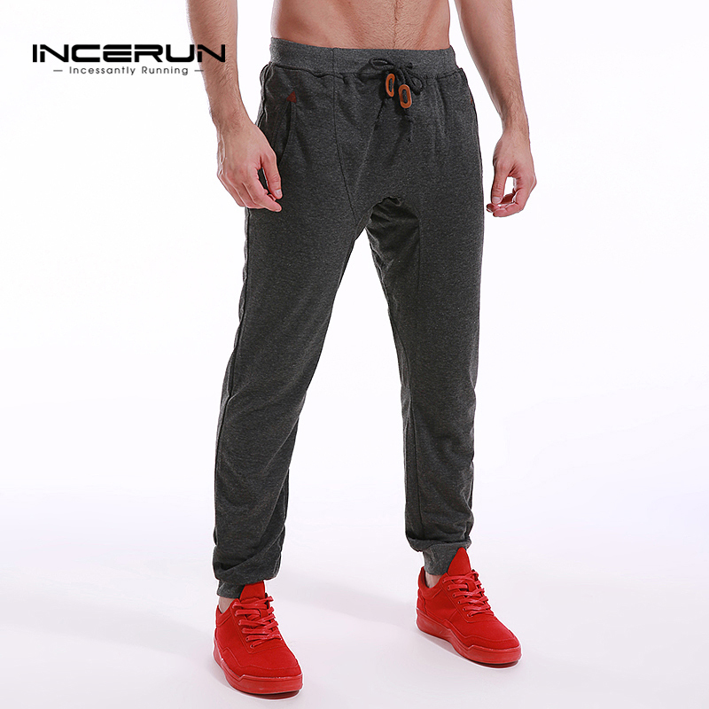 be00b517d41 INCERUN Mens Slim Fit Sweatpants Casual Tracksuit Bottoms Men Bodybuilding Fitness  Workout Pants Track Joggers Sporting Trousers-in Sweatpants from Men s ...