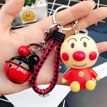 Bread Superman Bacteria Kid Keychain PVC Gifts Key Chain Ring Charm Jewelry For Women Men Car Key Holder Accessories