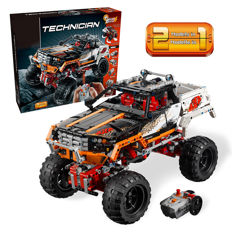 Lepin 20014 4x4 Crawler building bricks Toys for children Game Model Car Gift Compatible with Decool Bela 9398 lepin 02012 city deepwater exploration vessel 60095 building blocks policeman toys children compatible with lego gift kid sets