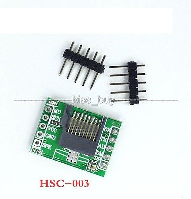 HSC-003 MP3 Serial Port Control Music Voice Module TF Card /U Disk Card Reader File Name