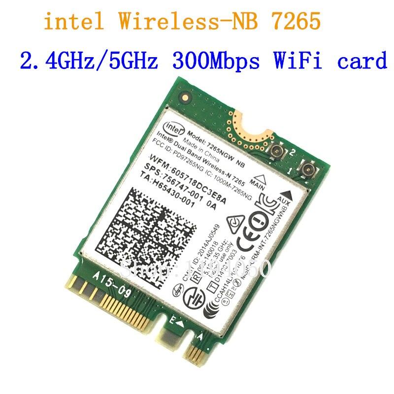 Nouveau pour intel double bande sans fil-n 7265 7265ngw 802.11n 2x2 WiFi 300 Mbps NGFF M.2 carte 7265NB 2.4G/5G