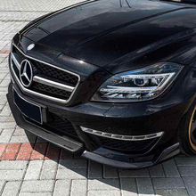 W218 AMG стиль renntech углеродного волокна переднего корпуса набор бампер для губ с сплиттер для mearcedes Benz W218 CLS350 CLS63 AMG 2012
