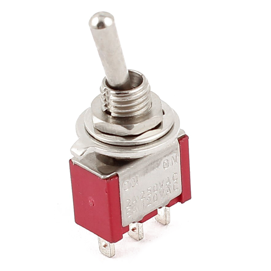 Hot saleAC 250V/2A 120V/5A ON/ON 2 Position SPDT Mini Micro Toggle Switch Red 3x10mm 5a 250v