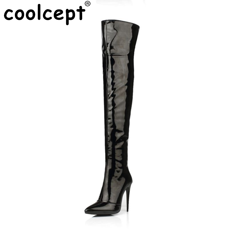 Plus Size 33-43 Botines Female Winter Boots Women Shoes Over Knee High Thigh Boots High Heel Suede Boots Botas Mujer Femininas summer style thigh high women woman femininas ankle boots botas masculina zapatos botines mujer chaussure femme shoes hx 39