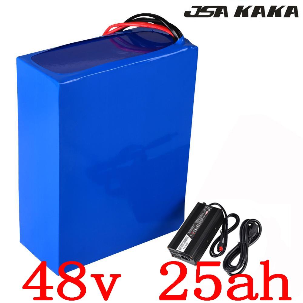 Batterie de vélo électrique 48 V 25AH batterie 48 V 2000 W batterie 48 V 25AH batterie au Lithium avec chargeur 50A BMS + 54.6 V 5A sans frais