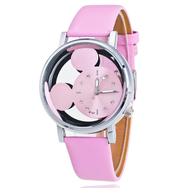 New Leather Fashion Brand Bracelet Watches Chilren Boy Girl Casual Quartz Watch Crystal Wrist Watch Wristwatch Clock Hour 8A62
