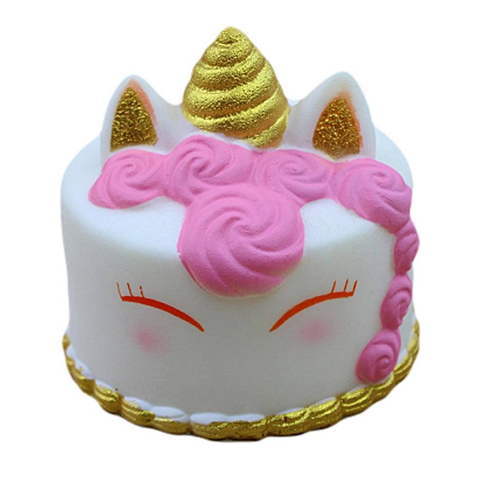 Kawaii Cartoon Cake Squishies Slow Rising Cream Scented Stress Reliever Toys Smooshy Mushy Squishy Pack