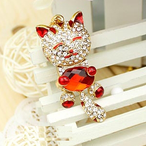 Lucky Cat Red Jewelry Pendrives Pen Drive 8GB 16GB 32GB Pendrive 64GB Mini Usb Flash Drive 64GB Memory Stick Usb Key Gift