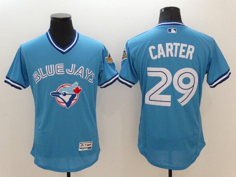 MLB Toronto Blue Jays Joe Carter baby blue Jersey