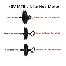 Electric-Bicycle-Motor Gearless Mountain 1500W Freewheel MTB CSC 48V
