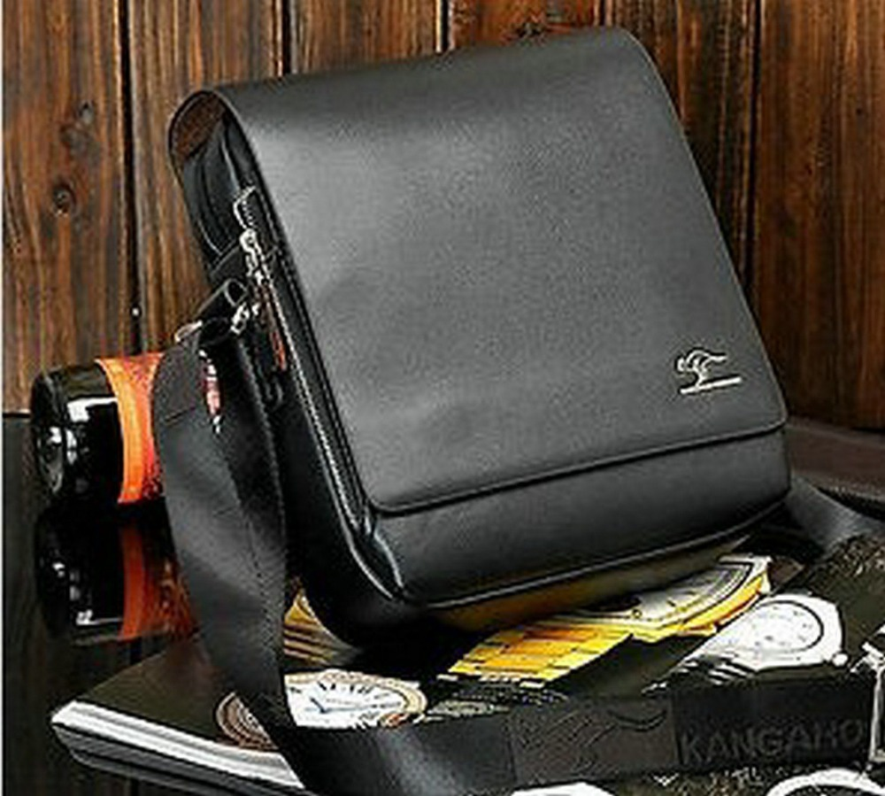 Western New Kangaroo Men's Leather Shoulder Messenger Bag ...