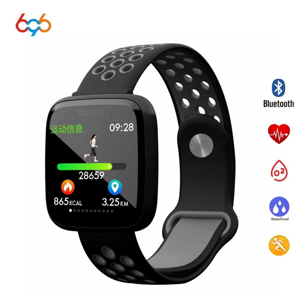696 Relógio Inteligente IP68 F15 SmartWatch À Prova D' Água de Natação Freqüência Cardíaca Pressão Arterial de Oxigênio No Sangue Pulseira Para Android & IOS