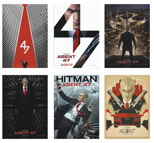 Hitman: Agent 47  Moive Poster White kraft poster  Poster wall sticker Decorative paintings