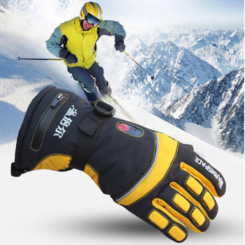 Smart Electric Heat Gloves 4000MA Ski Waterproof Lithium Battery Self Heating Adjustable Temperature 5 Hand Heated Gloves