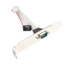 Hot Sale Durable Motherboard RS232 DB9 Pin Com Port Ribbon Serial Cable Connector Bracket