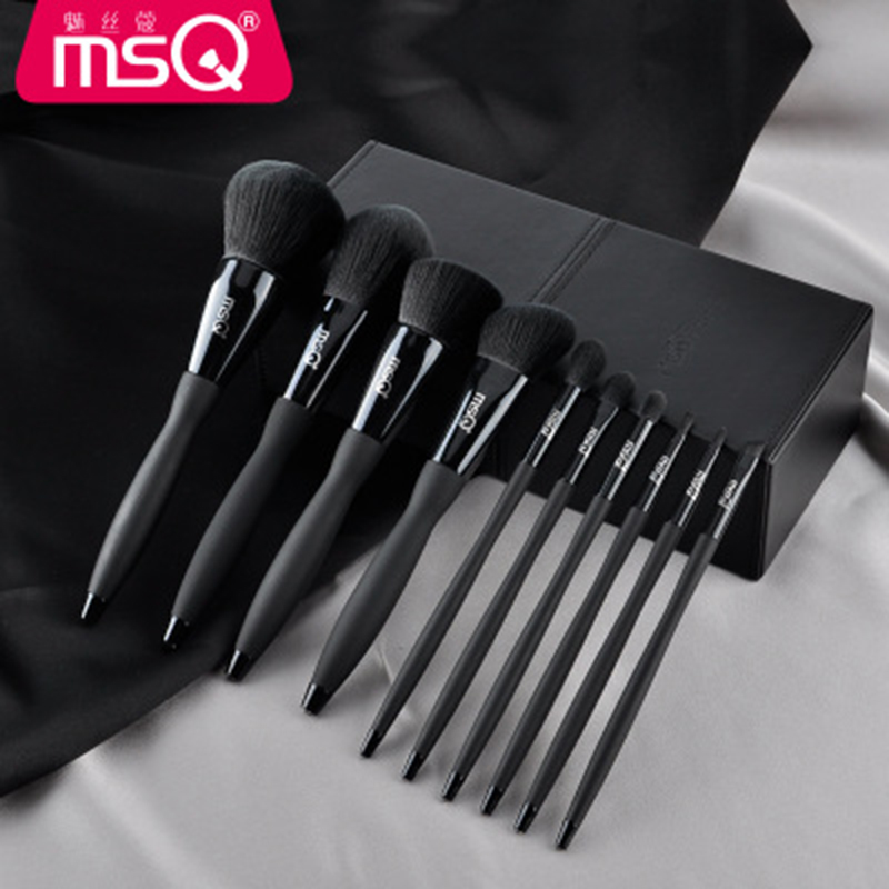 High Quality MSQ Makeup Brushes & Tools Eyebrow Blush Powder Contour Lip Brush Case Cosmetic Set Professional Makeup Kit 10 PCS msq professional 15 pcs makeup brushes set for women fashion soft face lip eyebrow shadow make up brush set kit pouch bag