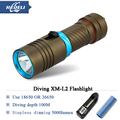 Diver Scuba flashlights  LED Diving Flashlight L2 Torch underwater light CREE XM L Lamp 5000lumen 18650 or 26650 batteries