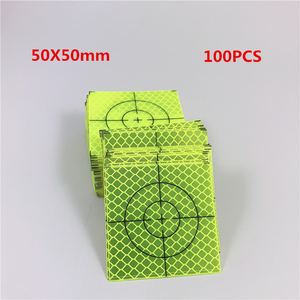 100pcs New Reflector Sheet 50x50mm Reflective Tape Target Geodetic survey Super Power Green color(China)